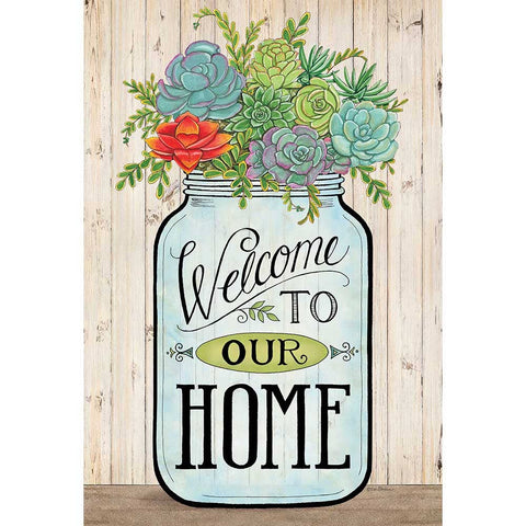 Garden Flag - Welcome to Our Home Mason Jar