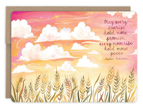 Sympathy Card - Wheat Field Sunset
