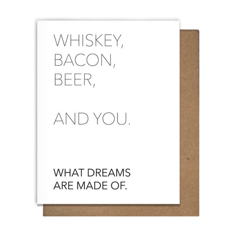 Funny Card - Whiskey, Bacon, Beer