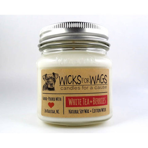White Tea and Berries Wicks for Wags Candle