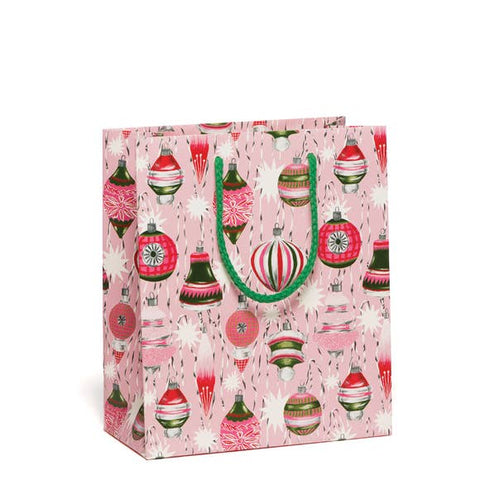 Retro Christmas Ornaments Gift Bag