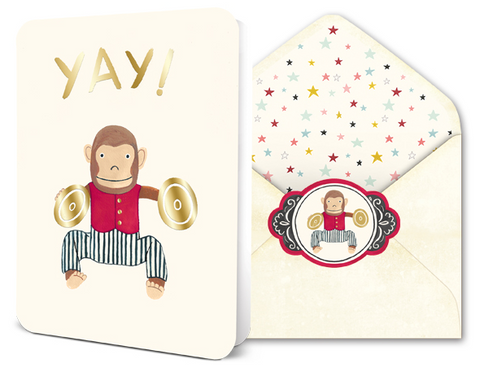 Deluxe Card Set - Yay Monkey