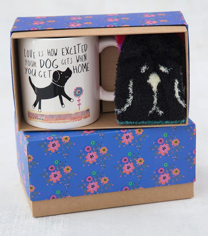 Dog Mug and Socks Gift Set