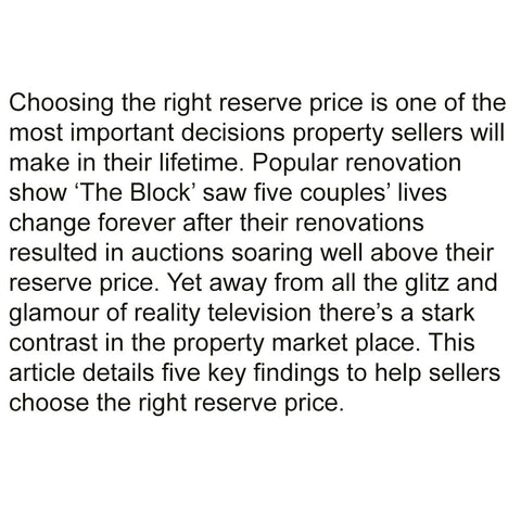 5 tips to consider before setting a reserve price