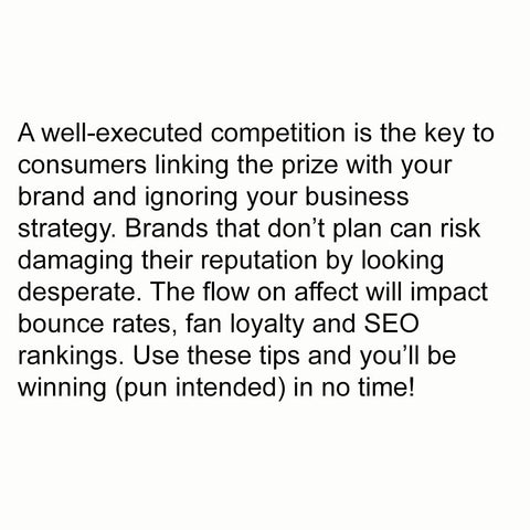 7 tips for running a successful social media competition