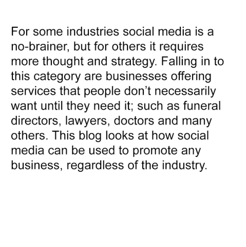 Is social media right for your industry?