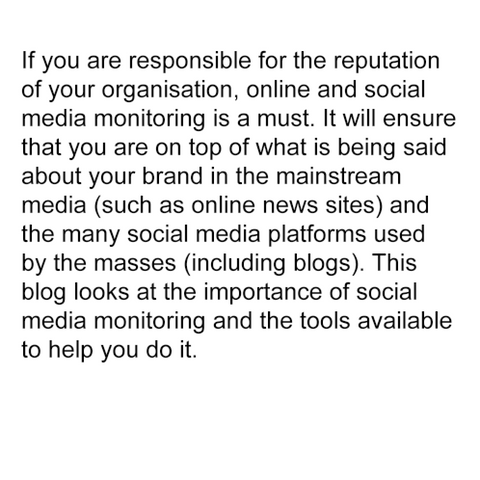 Are you monitoring your online and social media presence?