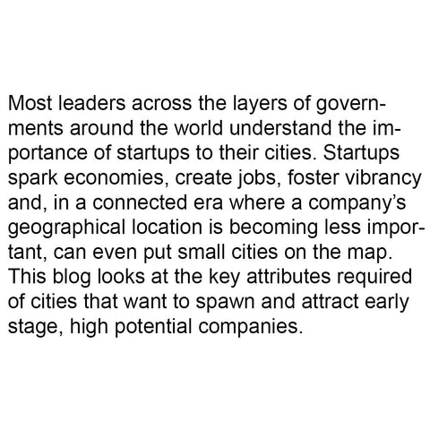 What makes a good startup city?