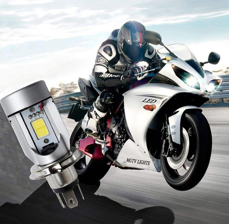 Nightrider LED H4 Motorcycle Projector Headlight Bulbs—Plug N Play!