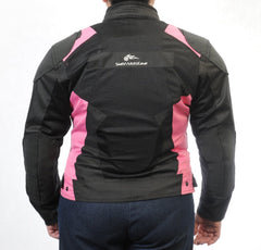 Women's SuperFabric EZ-1 Mesh Jacket in PINK - Slatin MotoGear Motorcycle Gear - 6