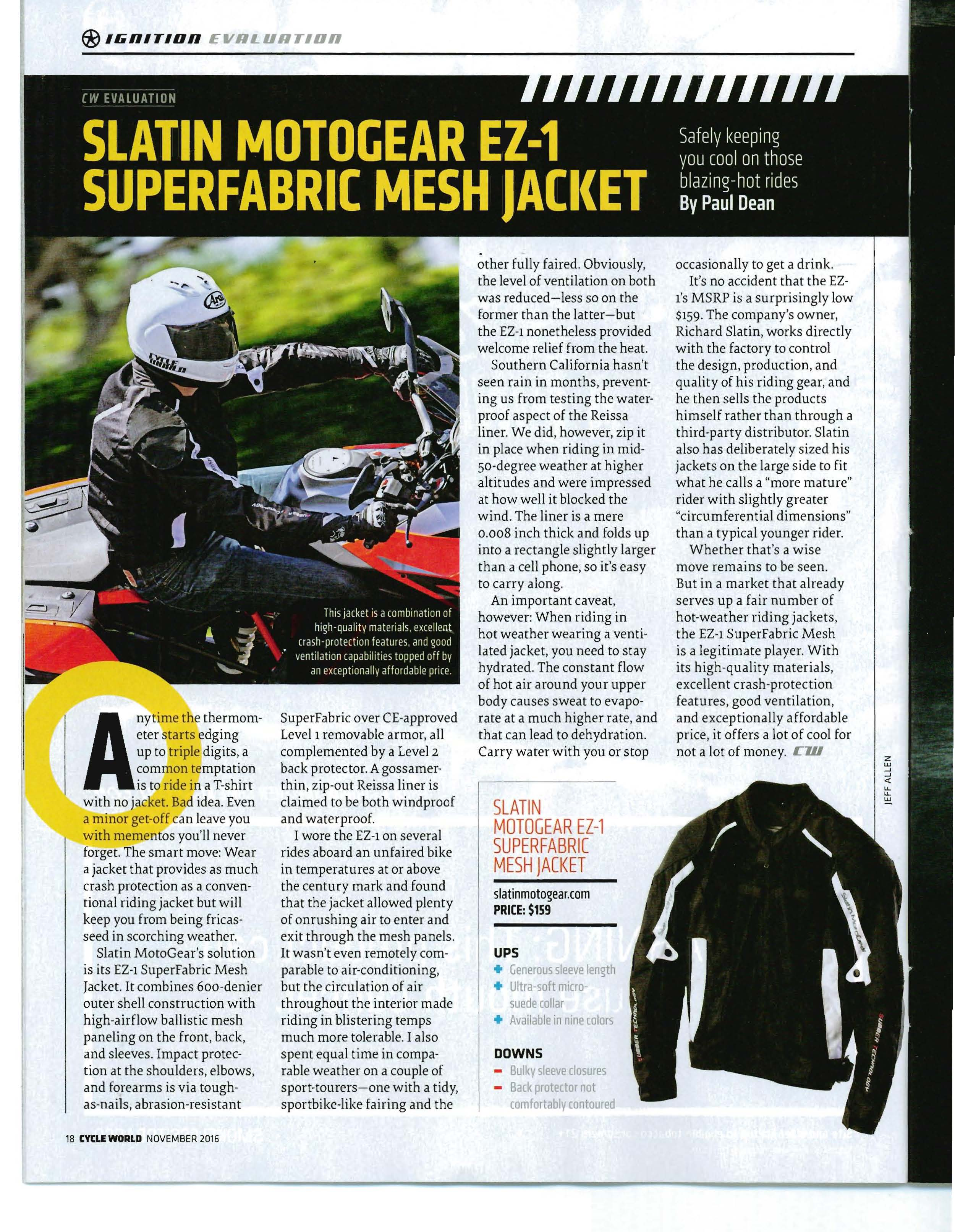 SuperFabric Motorcycle Gear