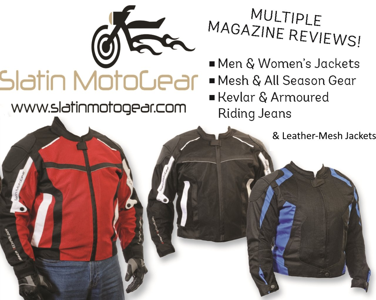 "The Slatin SMG-1 is one of the best budget jackets we've ever tested.""  (Motorcyclist Magazine Online 12/14/2016)"