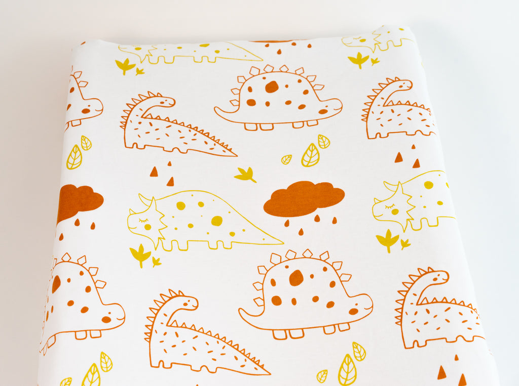 Magnolia Organics Organic Interlock Changing Pad Cover - Dinos- Animal Collection