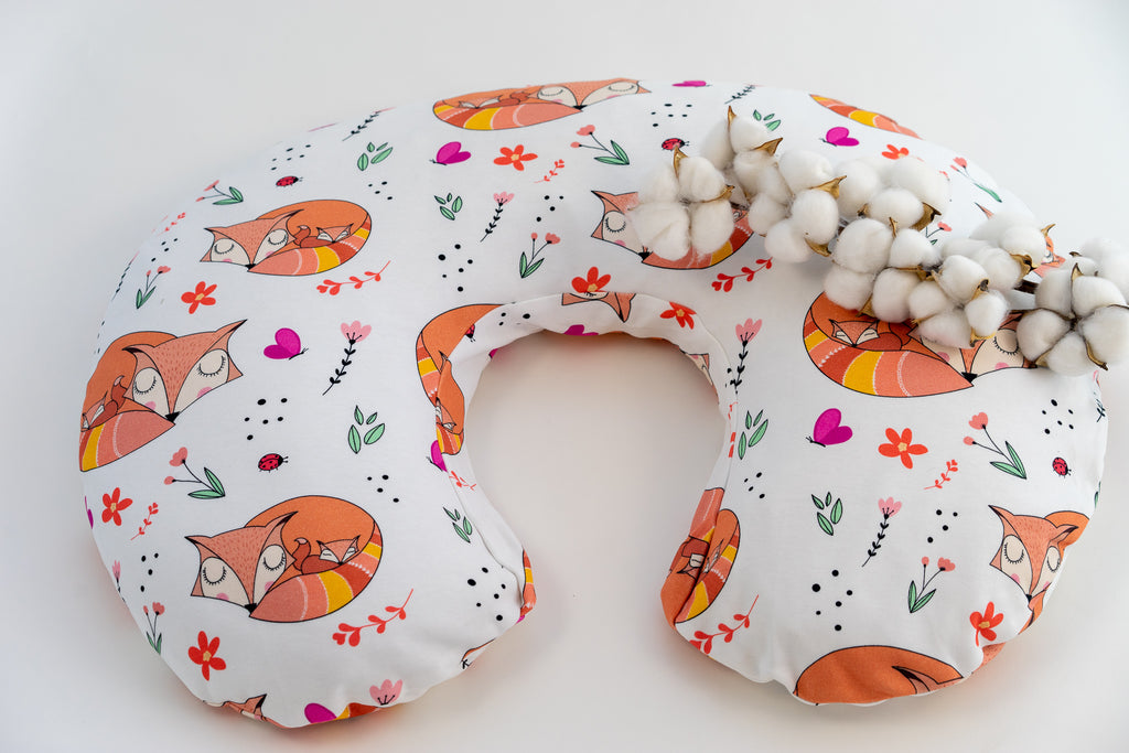 Nursing Pillow Cover - Snuggling Foxes