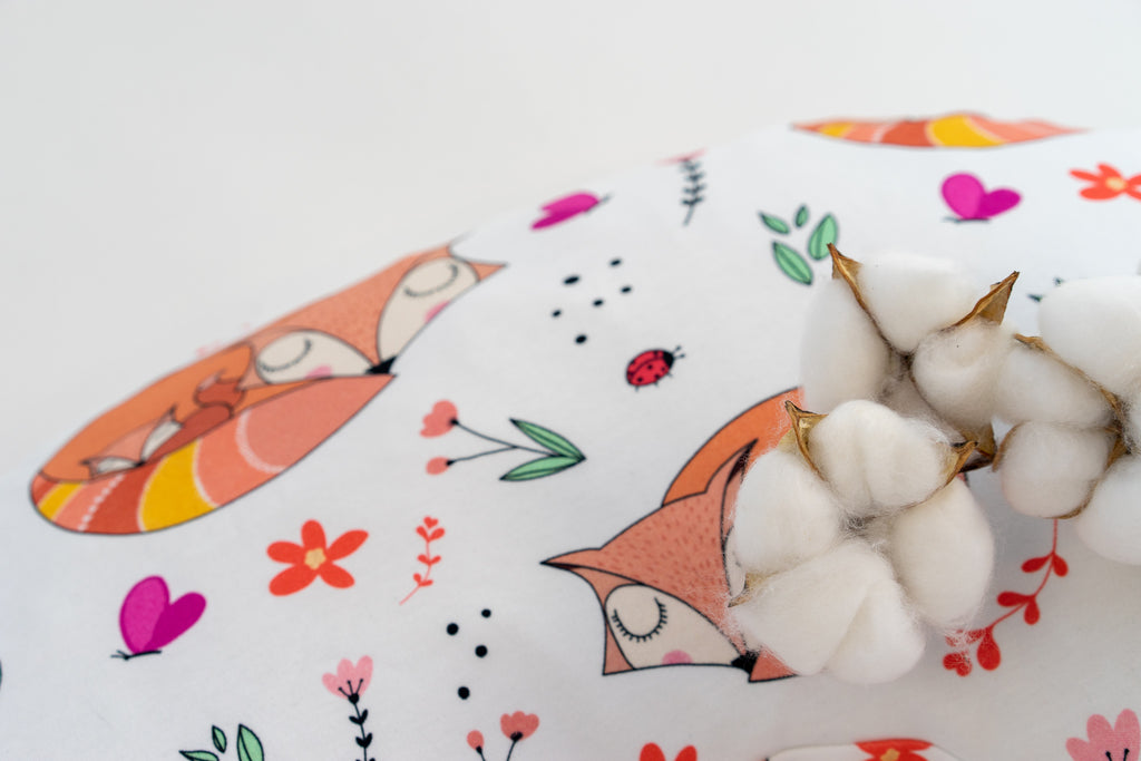 Magnolia Organics Nursing Pillow Cover - Snuggling Foxes - Animal Collection