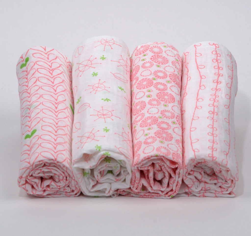 4-Pack Swaddle Blankets