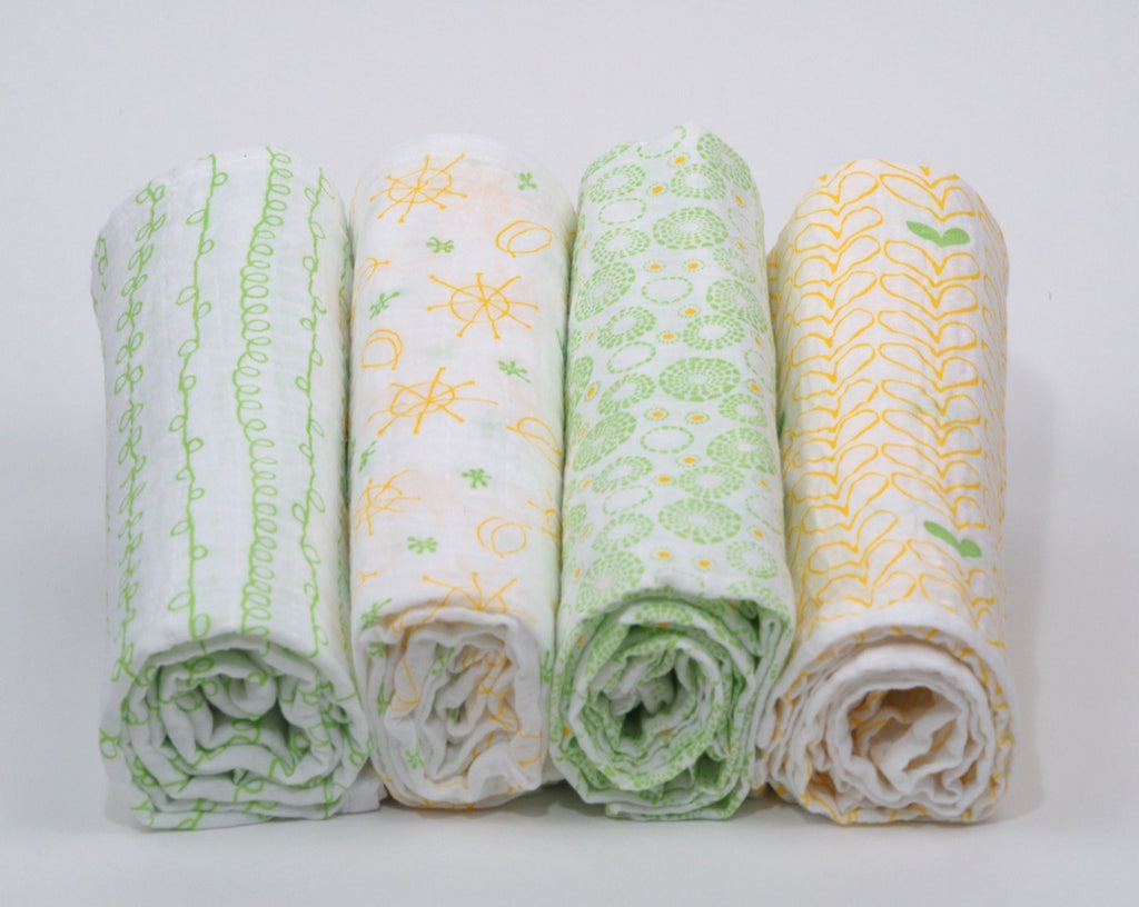 Magnolia Organics Organic Cotton Muslin Swaddle Blanket Set