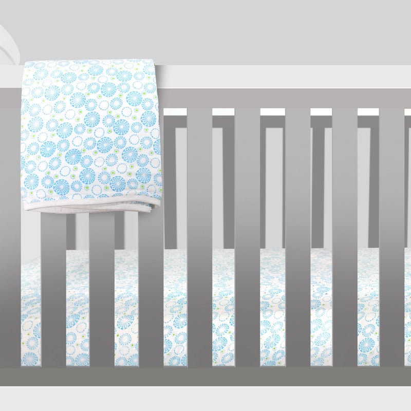 Organic Cotton Muslin Crib Sheet - Circles