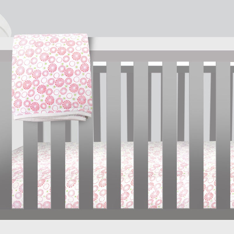 Double Gauze Crib Sheet - Circles