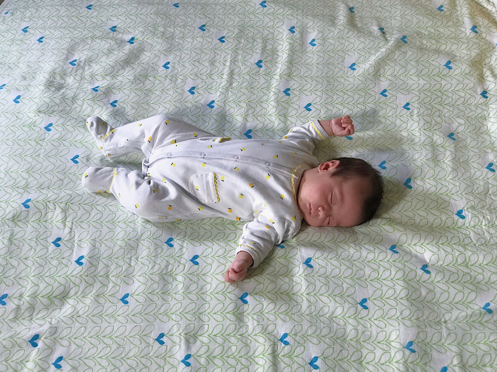 Organic Cotton Baby Blanket - Sonas Hearts