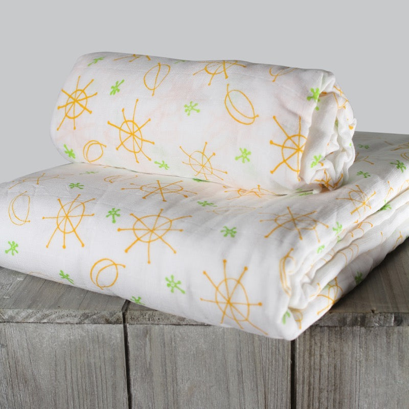 Organic Cotton Baby Blanket - Seeing Spots