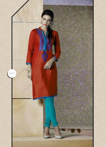 Reyon Kurti with Embroydery work - Mangalam