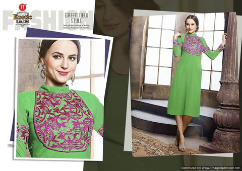 Georgette kurti with Embroidery work - Mangalam