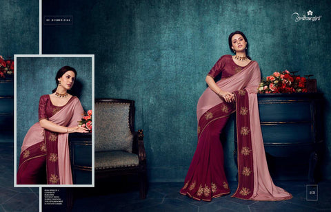 MAROON VICHITRA SILK SAREE