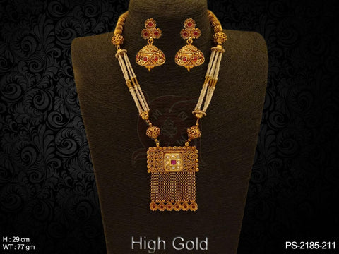 RECTANGULAR DESIGNER ANTIQUE PENDANT SET