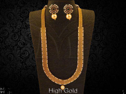 LONG BROAD STYLE ANTIQUE NECKLACE SET