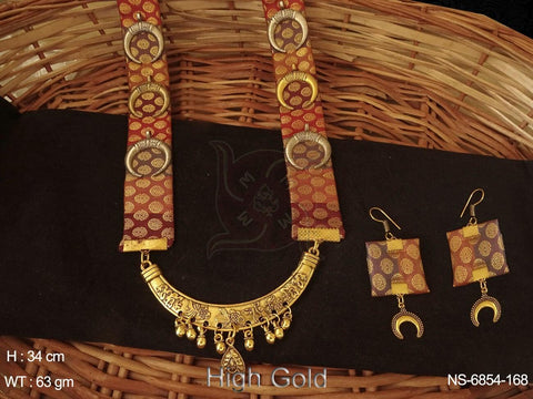 FABRIC CHAND DESIGN LONG NECKLACE SET