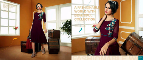 Designer Georgette kurti for Online Shopping - Mangalam