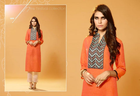 Kurti with embroidery work