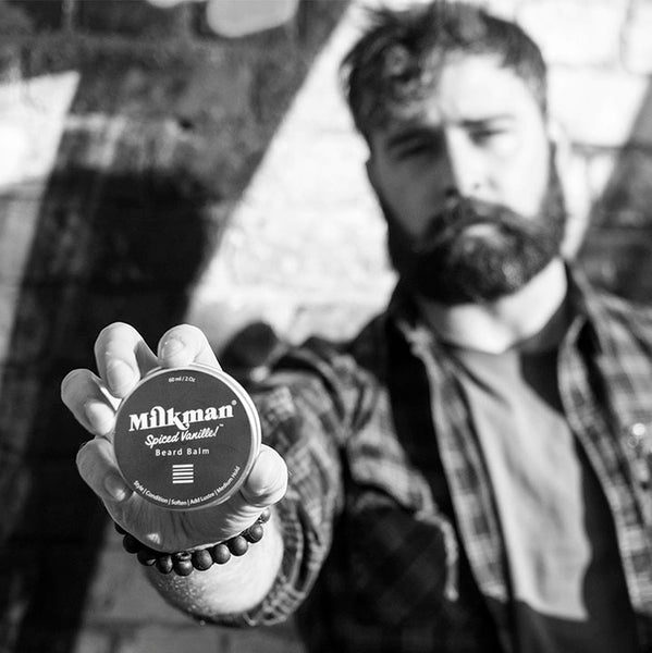 bearded man with beard balm