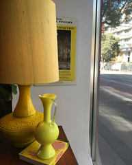 yello vintage lamp