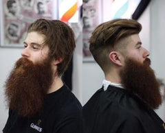 barber trim before and after