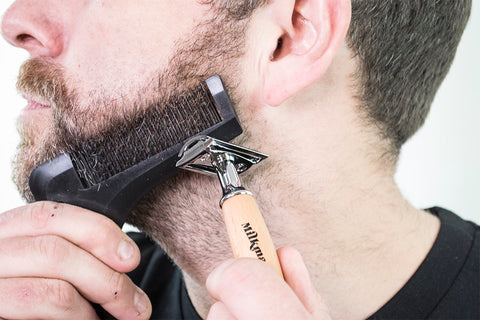 beardrometer beard shaper, milkman grooming co.