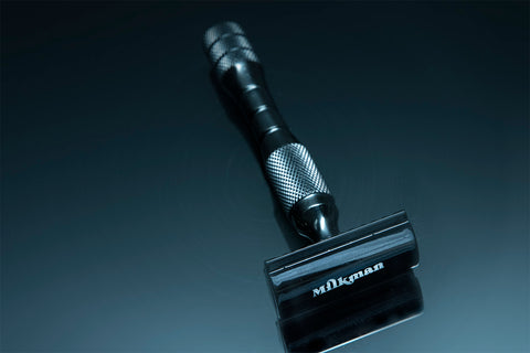 tac black double edge safety razor by Milkman Grooming Co