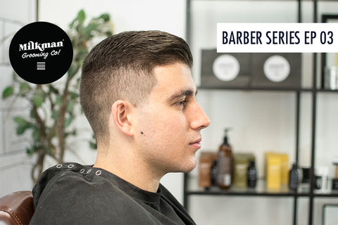 barber beard trim and shave series