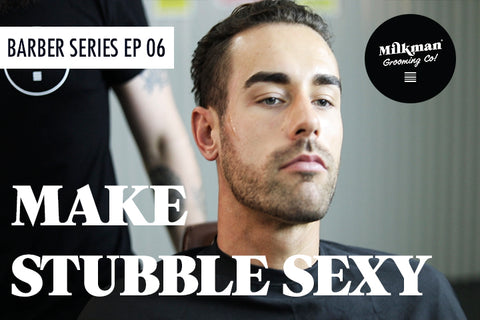 setting beard lines for stubble look, barber video series, Milkman Grooming Co.