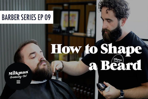 Franco the barber styling beard