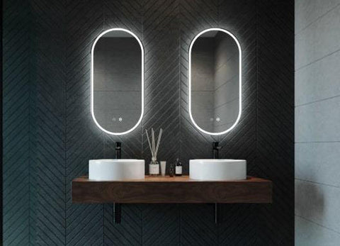mirror lights in bathroom for trimming moustache