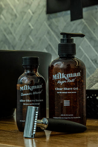 after shave serum clear shave gel and double edge safety razor