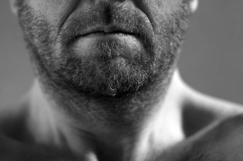 man growing stubble
