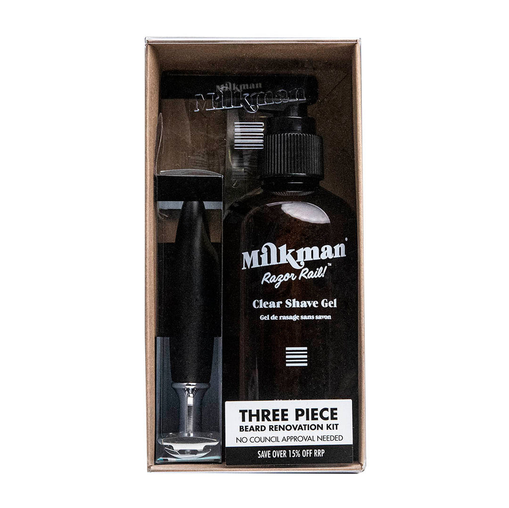Three piece beard renovation kit
