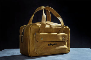 "Leather ""Tool Kit"" Dopp Bag"