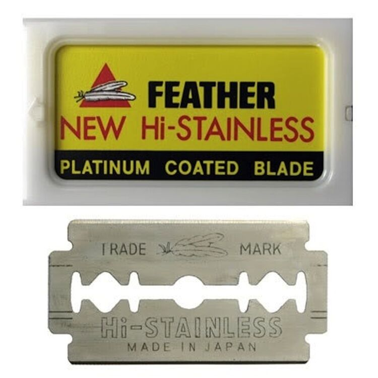 Feather Hi-Stainless Double Edge Blades (pack of 5)
