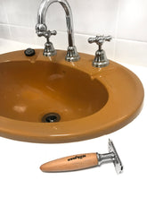 Load image into Gallery viewer, fatip style razor by the bathroom sink