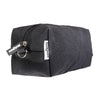 matte black canvas dopp bag