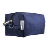 navy blue canvas dopp bag